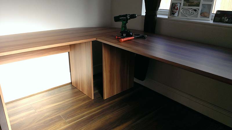 Man About House - desk assembly